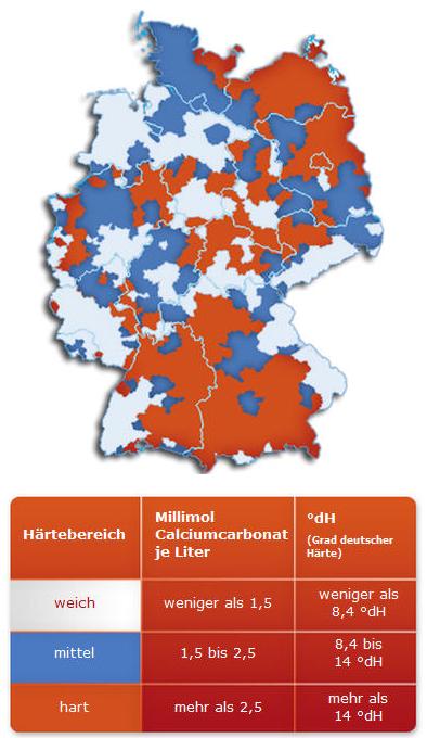 Wasserhaerte-Deutschland